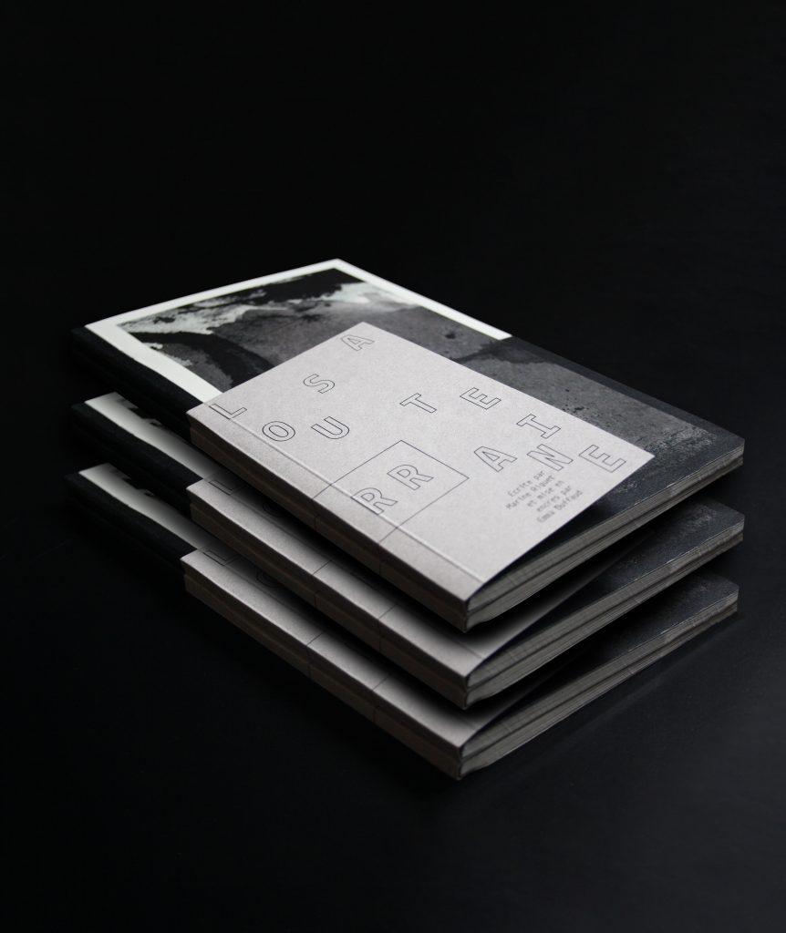 Catalogue La Souterraine : couverture. Marine Riguet, Emma Duffaud, Elisa Garnero, Quentin Girard, Joseph Hadacek.